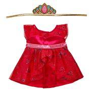 Rotes Kleid mit Krone für Kuscheltiere