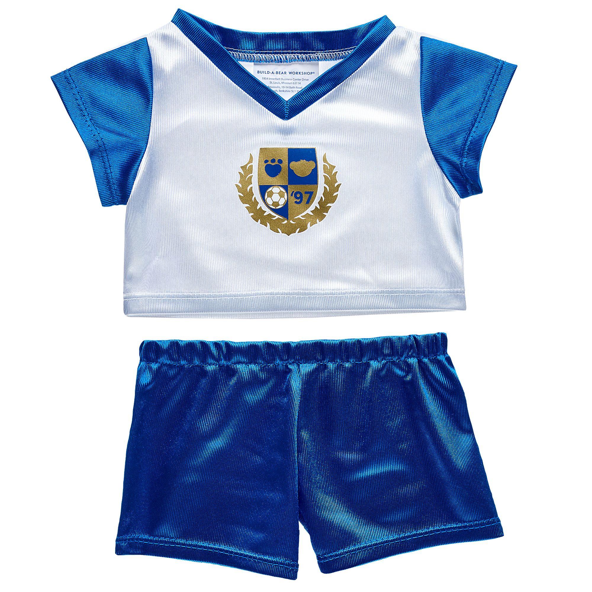 pretty nice 6fdb4 1e0a1 blau-weißes Fußball Outfit